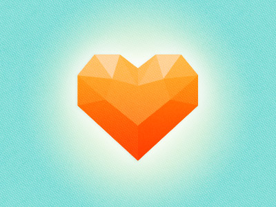 Free PSD download of a Heart Stone